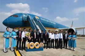 Vietnam Airlines đón chiếc máy bay thứ 100 gia nhập đội bay