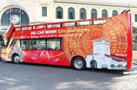 Thưởng lãm Sài Gòn bằng xe buýt mui trần