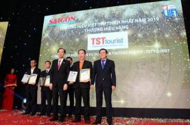 TST tourist 12 năm liên tiếp đạt giải thưởng Thương hiệu Vàng 2019