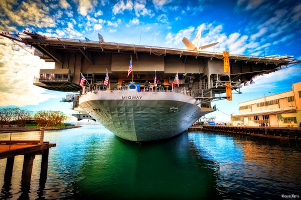 USS-Midway-in-San-Diego-by-Michael-Matti